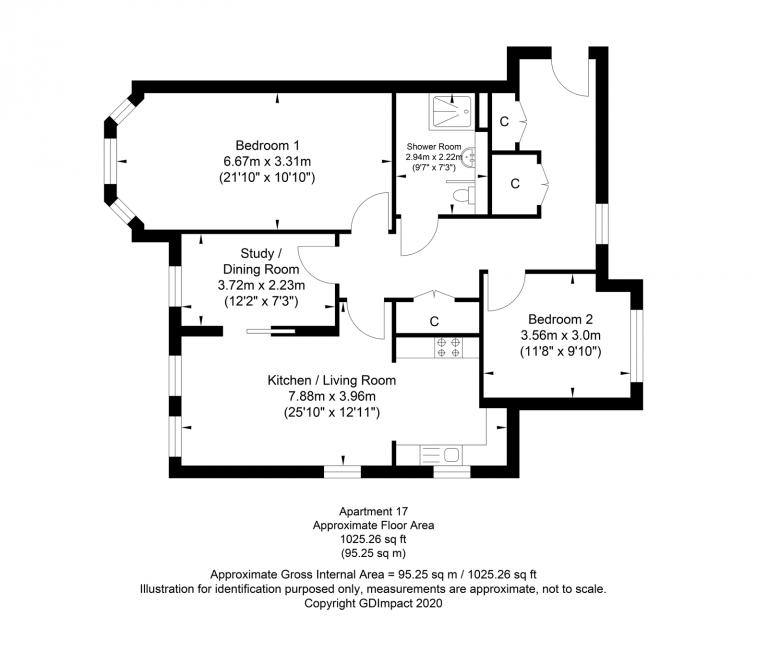 Large+ 2.5 bedroom