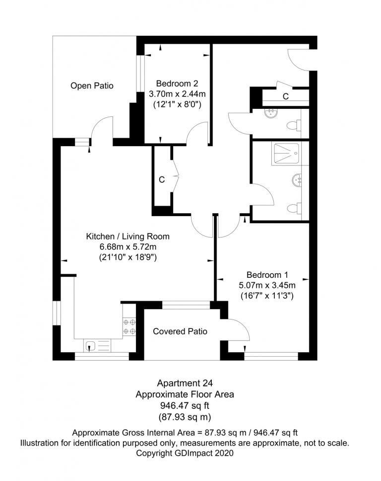 Large (show flat) 2 bedroom